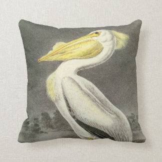 American White Pelican by Audubon Throw Pillow