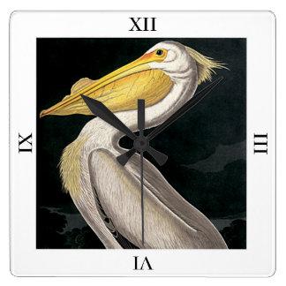 American White Pelican by John James Audubon Wallclocks
