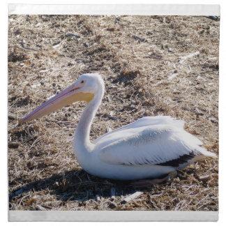 American White Pelican Cloth Napkin