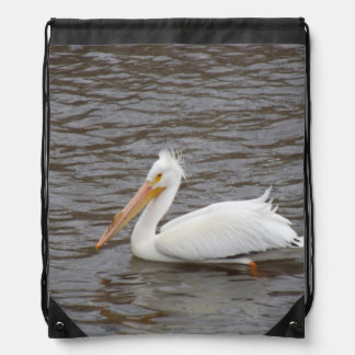 American White Pelican In Breeding Condition Backpack
