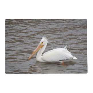 American White Pelican In Breeding Condition Laminated Place Mat