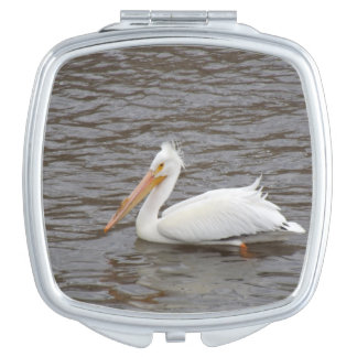 American White Pelican In Breeding Condition Vanity Mirrors