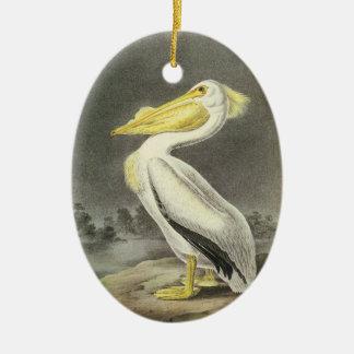 American White Pelican, John Audubon Christmas Tree Ornaments