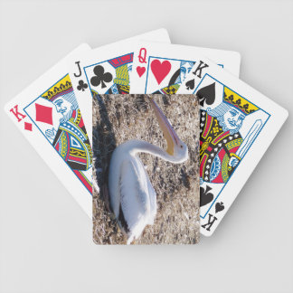 American White Pelican Bicycle Playing Cards