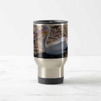 American White Pelican Stainless Steel Travel Mug