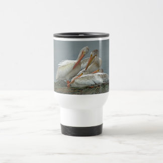 American White Pelicans -Pelecanus erythrorhynchos Stainless Steel Travel Mug