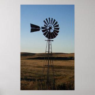 American Windmill Poster