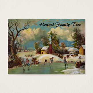 American Winter Life Christmas Scene Business Card