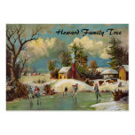 American Winter Life Christmas Scene Business Cards
