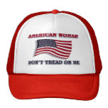 American Woman Don't Tread On Me Cap