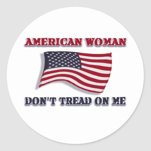American Woman Don't Tread On Me Stickers
