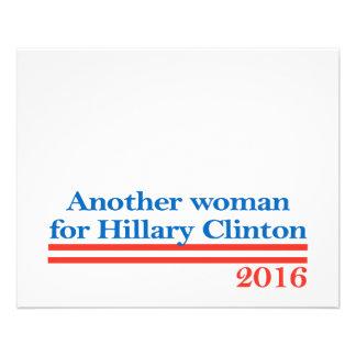American Woman for Hillary Clinton 11.5 Cm X 14 Cm Flyer