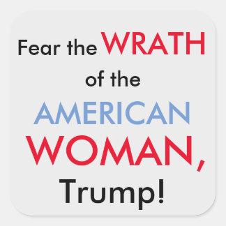 American Woman VS Trump sticker
