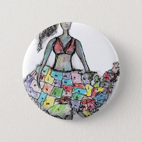 american women 6 cm round badge