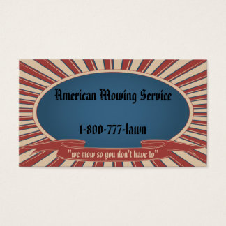 Americana Blue Business Card
