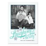 Americana Blue Snowflake Holiday Photo Card 13 Cm X 18 Cm Invitation Card