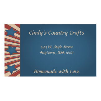 Americana Country Pack Of Standard Business Cards