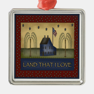 Americana Country Patriotic Christmas Gift Christmas Ornament
