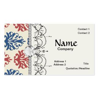 americana damask business card templates