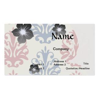 americana damask business card