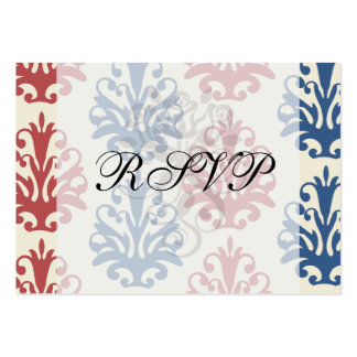 americana damask pack of chubby business cards