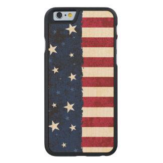 Americana Folk Stars & Stripes Patriotic Carved® Maple iPhone 6 Slim Case