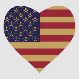 AMERICANA HEART STICKERS