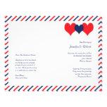Americana Hearts Wedding Program 21.5 Cm X 28 Cm Flyer