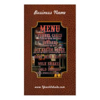 Americana - Menu Business Card Template