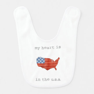 Americana | My Heart Is In The USA Map Bib