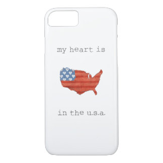 Americana | My Heart Is In The USA Map iPhone 8/7 Case