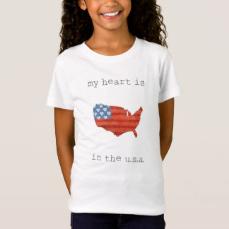 Americana | My Heart Is In The USA Map T-Shirt