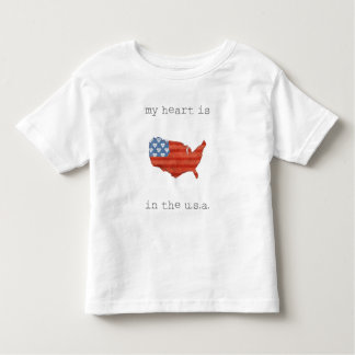 Americana | My Heart Is In The USA Map Toddler T-Shirt