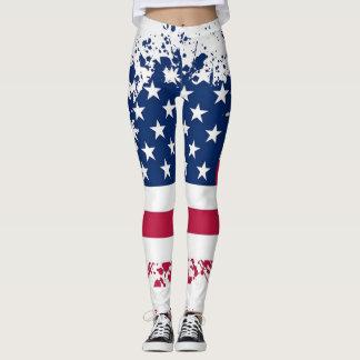 Americana Patriotism Flag Summer Leggings