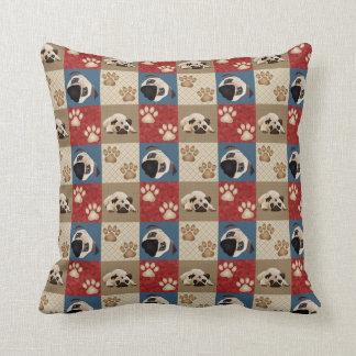 Americana Quilt Pug Throw Pillow