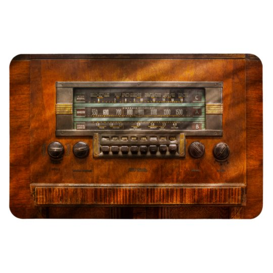 Americana - Radio - Remember what radio was like Rectangular Photo Magnet