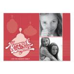 Americana Red Ornament Holiday Photo Card 13 Cm X 18 Cm Invitation Card