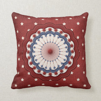 Americana Red White and Blue Patriotic Stars Cushion
