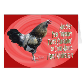 Americana Rooster  A 3-zz Greeting Card