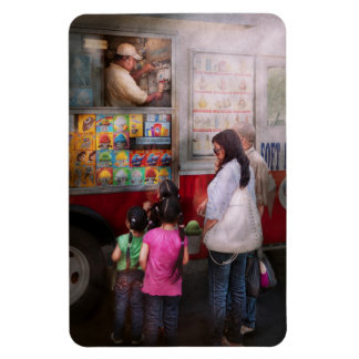 Americana - Serving chocolate ice cream Rectangular Photo Magnet