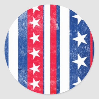 Americana Stars and Stripes Classic Round Sticker