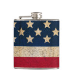 Americana Stars and Stripes Custom Flask