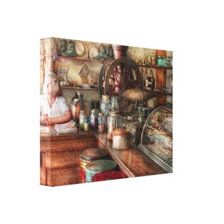 Americana - Store - Looking after the shop Gallery Wrapped Canvas