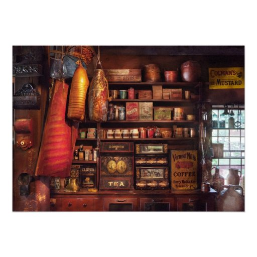 Americana - Store - The local grocers Custom Announcements