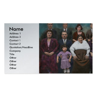 Americana - This is my family 1925 Business Cards