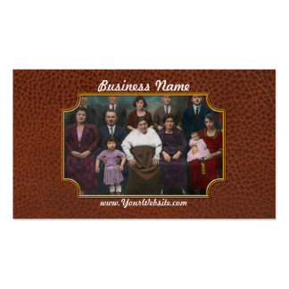 Americana - This is my family 1925 Business Card Templates