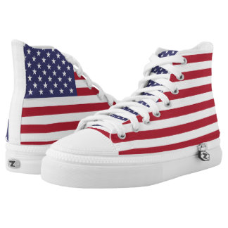 Americana US Flag Zipz High Top Shoes