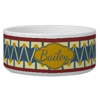 Americana Vintage Drum Personalized Pet Bowls