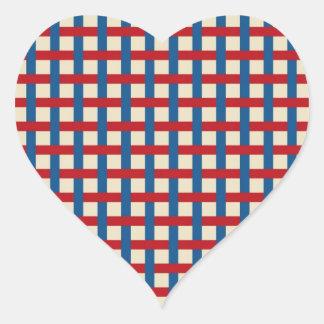 Americana Weave Heart Sticker