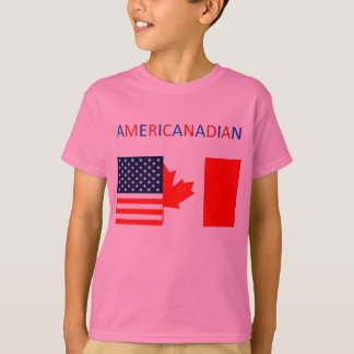 AMERICANADIAN 2 girls'  pink tee